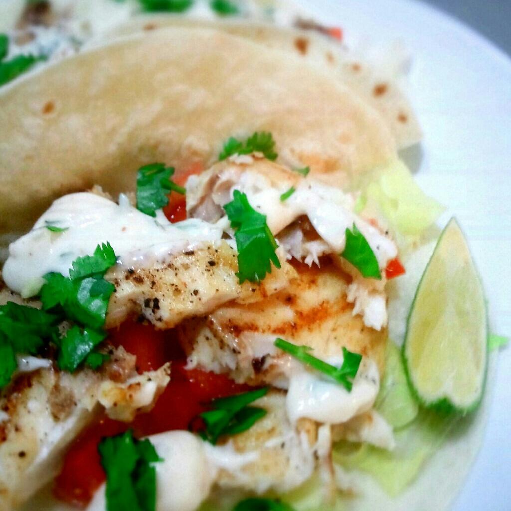 Cilantro Lime Fish Tacos